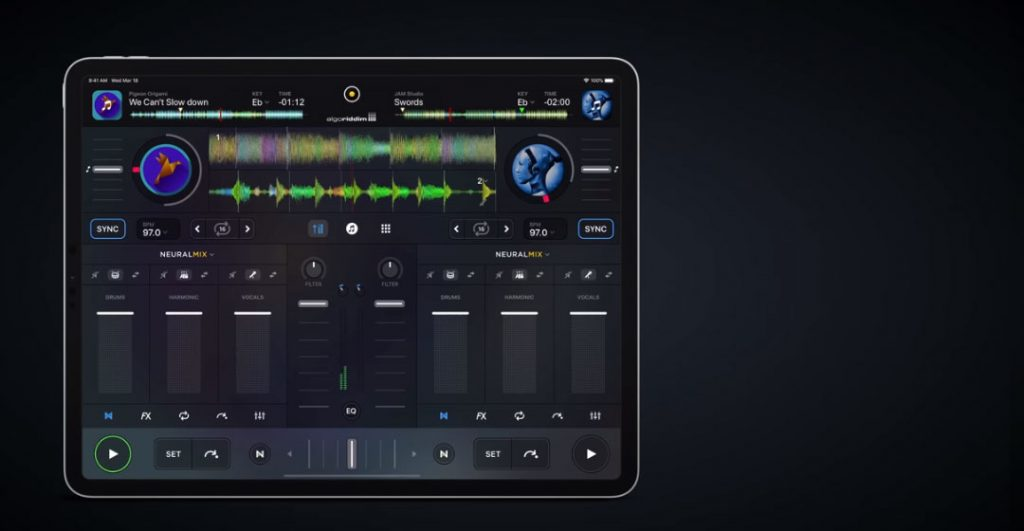 Algoriddim's Music Separation Neural Mix on the new Ipad